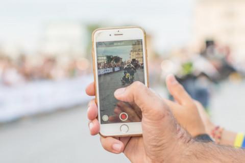 Filmen met smartphone
